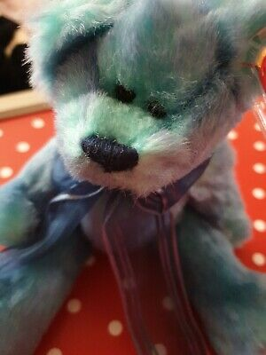 Lovely Ty Attic Treasures Jointed Blue Bear Azure With Tag • 3£