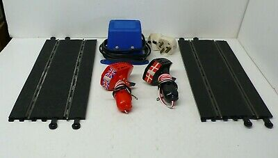 Scalextric C918  12v Power Supply 2 X Controllers  2 X Straight Track Sections • 2£