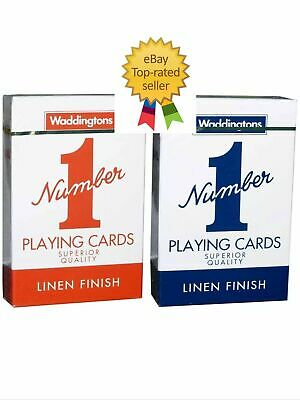 Waddingtons No.1 Classic Playing Cards Decks Of Red & Blue Poker Game Brand New • 5.49£