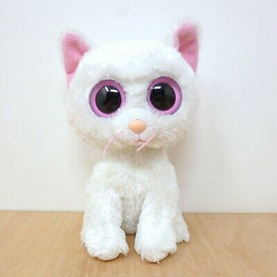 Rare Ty Beanie Boos Boo 2011 - Cashmere The White Cat Plush Soft Toy Retired 6  • 11.99£