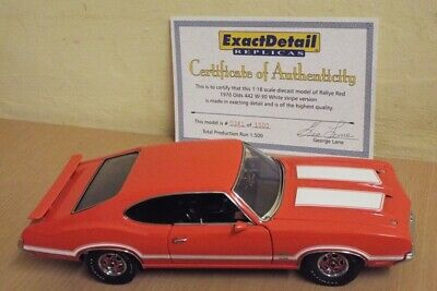 1/18 Lane Exact Detail 1970 Oldsmobile 442 W-30 Hardtop In Rare Rally Red 1/1500 • 0.99£