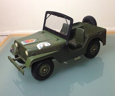 Vintage MARX TOYS - Action Man COMMANDO PATROL JEEP (1970s) • 29.99£