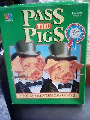 Vintage Mb Games Travel Pass The Pigs Not Played With But Opened Excellent 1984 • 3£