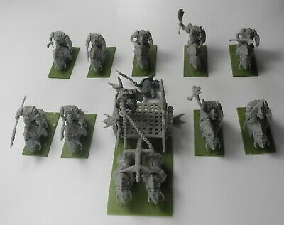 9 MANTIC ORC GORE RIDERS + CHARIOT Plastic Kings Of War Orcs Boars Army 8 • 5.19£