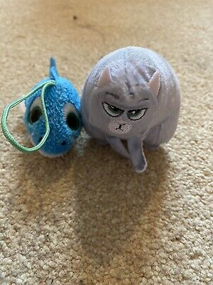 Stocking Filler Teddy Pussy Cat And Fish • 0.99£