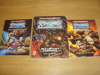 TSR AD&D SPELLJAMMER Fantasy SPACE Scifi Boxed Game + Supplements • 12.50£