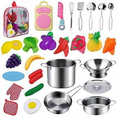 JIONCHERY 26 Piece Kitchen Toy Set | Pretend Play Accessories | Kids Toys • 29.99£