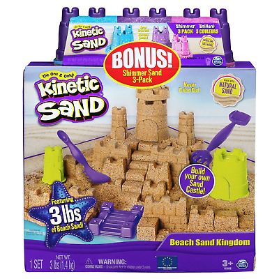 Kinetic Sand Beach Sand Kingdom & Shimmering Sand Multipack Attached • 12.50£