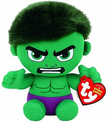 TY BEANIE - HULK MARVEL  6  Plush Soft Toy 41191 • 8.49£