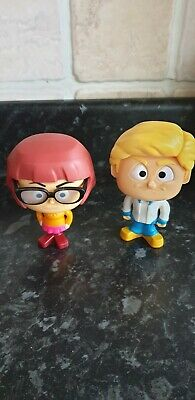 Scooby Doo McDonalds Happy Meal Toys X 2 Bobble Heads Velma And Fred • 1.99£