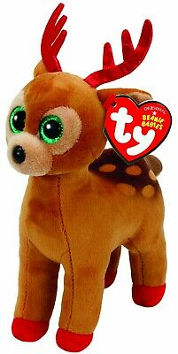 Official Ty Beanie -ty Beanie Boo Tinsel The Reindeer Reg 15cm Soft Toy 37238 • 7.99£