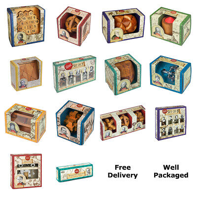 Great Minds Collection Metal & Wooden Puzzles By Professor Puzzle - 20+ Assorted • 13.99£