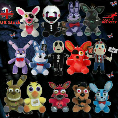 UK Five Nights At Freddy's 4 FNAF Plush Dolls Stuffed Horror Game Teddy Soft Toy • 5.99£