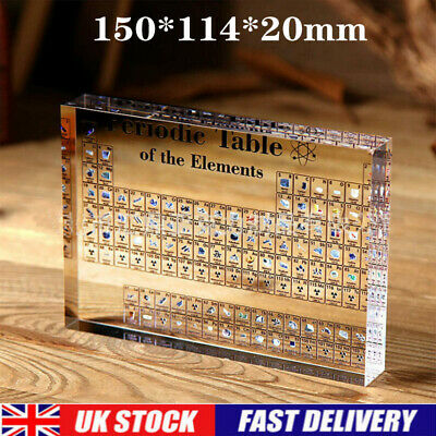 Acrylic Chemistry Periodic Table Display Printed Elements Student Teacher Gift  • 12.95£