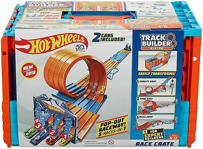 Hot Wheels Builder Race Crate Connectable Track Set With Loops • 43.49£