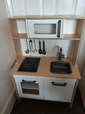 Ikea DUKTIG Kids Wooden Play Kitchen And Accessories. Used Condition • 16£