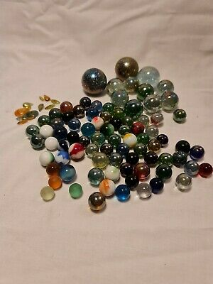 Collection Of Old Marbles Glass Various Sizes And Colours • 1.04£
