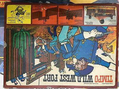 TIMPO TOYS VINTAGE USA 7th CAVALRY BOXED WILD WEST FORT WORTH SET - RARE • 170£