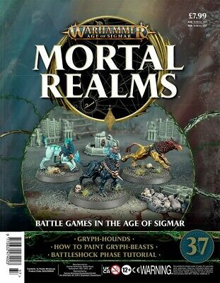 Warhammer Age Of Sigmar Mortal Realms 37 With 3 X Gryph-Hounds • 12.95£