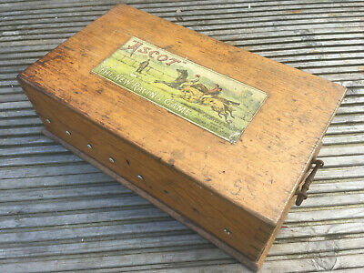 Antique JAQUES & SONS LONDON ASCOT The New Racing Game Lead Horse Figures C1900 • 46£