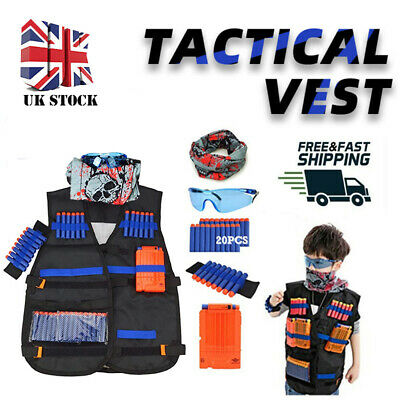Kids Tactical Vest Suit Kit For Nerf Guns N-Strike Elite Series Outdoor Gifts UK • 9.99£