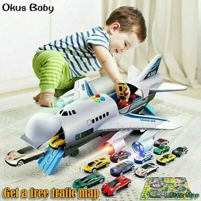 Children's Toy Aircraft Large Size Passenger Plane Kids Air Freighter Toy Car • 19.78£
