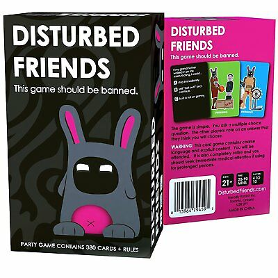 New Sealed Disturbed Friends - This Game Should Be Banned Game 380 Cards + Rules • 18.99£