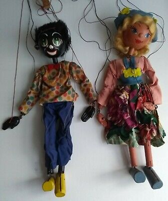 Pair Of Vintage Classic 1950's Pelham Puppets Still With Original Owner. • 50£