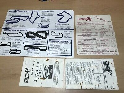 Vintage Scalextric Leaflets 8th Edition Track Plans, Price List 1969, & More     • 7£