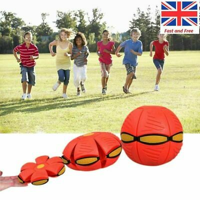 Mini UFO Frisbee Plastic Flying Throw Disc Deformed Catch Ball Kids Games Toy UK • 10.59£