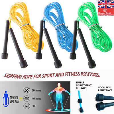 Skipping Rope Speed Jumping Boxing Crossfit Exercise Weight Loss Fitness MMA UK • 2.99£