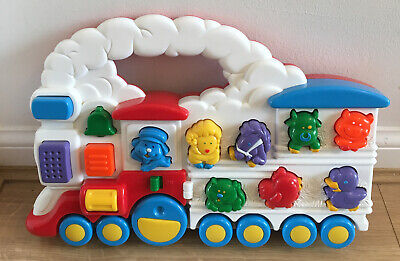 Vintage 80/90s Chicco Animal TRAIN Electronic Sounds Toy Push Along Preschool  • 14.99£