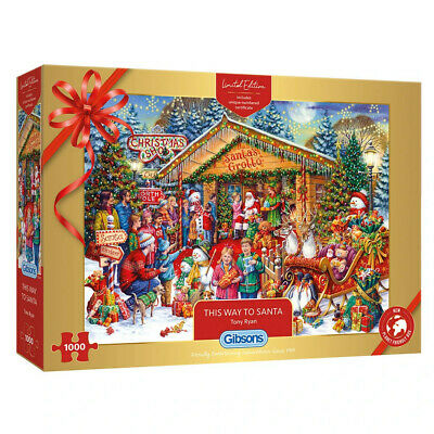 This Way To Santa Gibsons 1000 Piece Christmas Jigsaw, Limited Edition G2020 • 18.99£