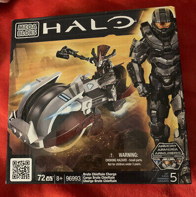 Mega Bloks 96993 Halo Brute Chieftain Charge Figure & Vehicle New • 4.99£