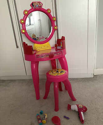 Barbie Girls Dressing Table Mirror Vanity Studio Doll Hairdresser Toy Set Beauty • 15.50£