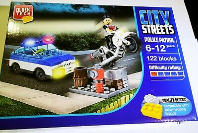 Police Patrol Vehicle Quality Blocks For Kids Ideal Gift For Christmas • 0.99£