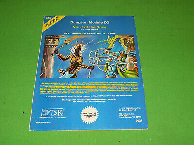 D3 Vault Of The Drow Advanced Dungeons & Dragons Module • 20£