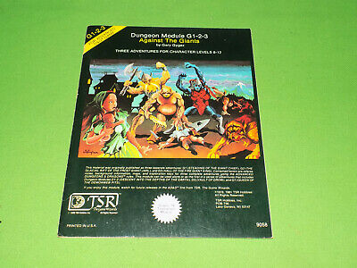 G1-2-3 Against The Giants Advanced Dungeons & Dragons Module • 20£