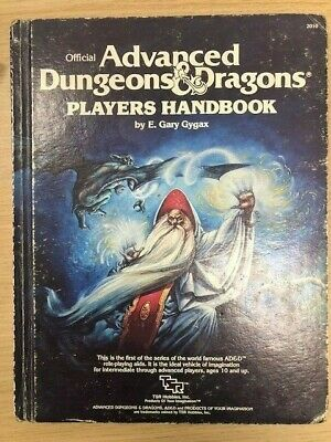 PLAYERS HANDBOOK AD&D 1st Edition 6th Reprint 1980 Good Condition • 2.39£