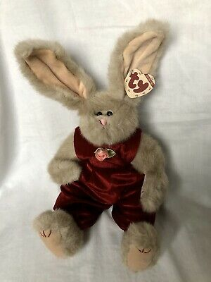 Sidney Rabbit Ty Attic Treasures Dungarees  Articulated Legs New With Tags • 14.99£