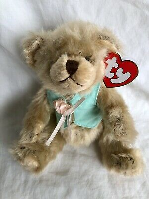 Olivia Bear Ty Attic Treasures Turquoise Top Articulated Arms Legs New With Tags • 7.99£