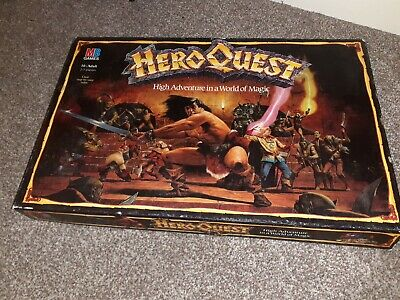 Heroquest 1989 MB Board Game - Boxed • 100£