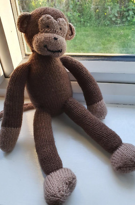 Knitted Monkey Handmade Toy Child Baby Wool Animal • 30£