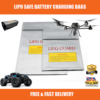Strong Lipo Battery Fire Safe Charging Bag Fireproof Storage RC Cars Drones UK • 5.99£