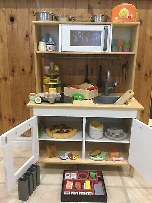 IKEA DUKTIG Play Kitchen And Over 100 Accessories • 25£