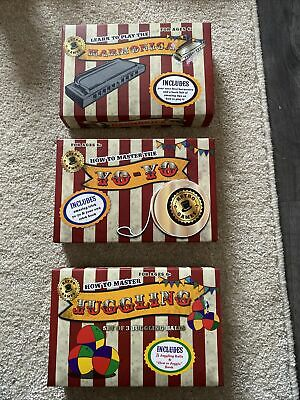 Kids Boys Girls Retro Games Juggling Yo-yo & Harmonica Bundle New • 4.99£