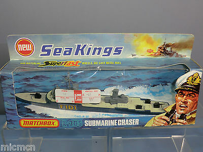MATCHBOX SEA KINGS  WATER LINE  MODEL No.K-305 SUBMARINE CHASER  MIB • 55£