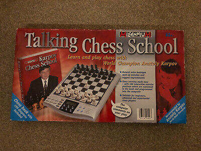 Talking Chess School With Anatoly Karpov - Electronic Learn And Play Chess • 99.99£