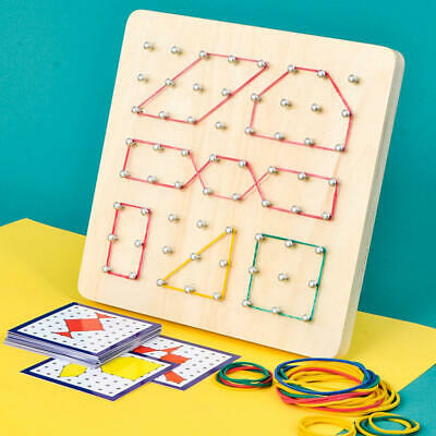 Nail Board Toy Wooden Geoboard Space Imagination Development Educational Toys UK • 12.56£