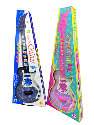 Musical Guitar Kids Electronic Educational Toy With Music & Light Toy Gift Uk • 8.95£